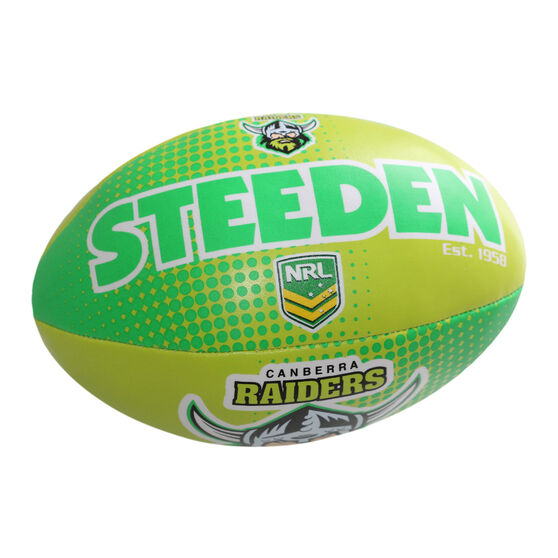 Gray Nicolls NRL Canberra Raiders Sponge Rugby Ball, , rebel_hi-res