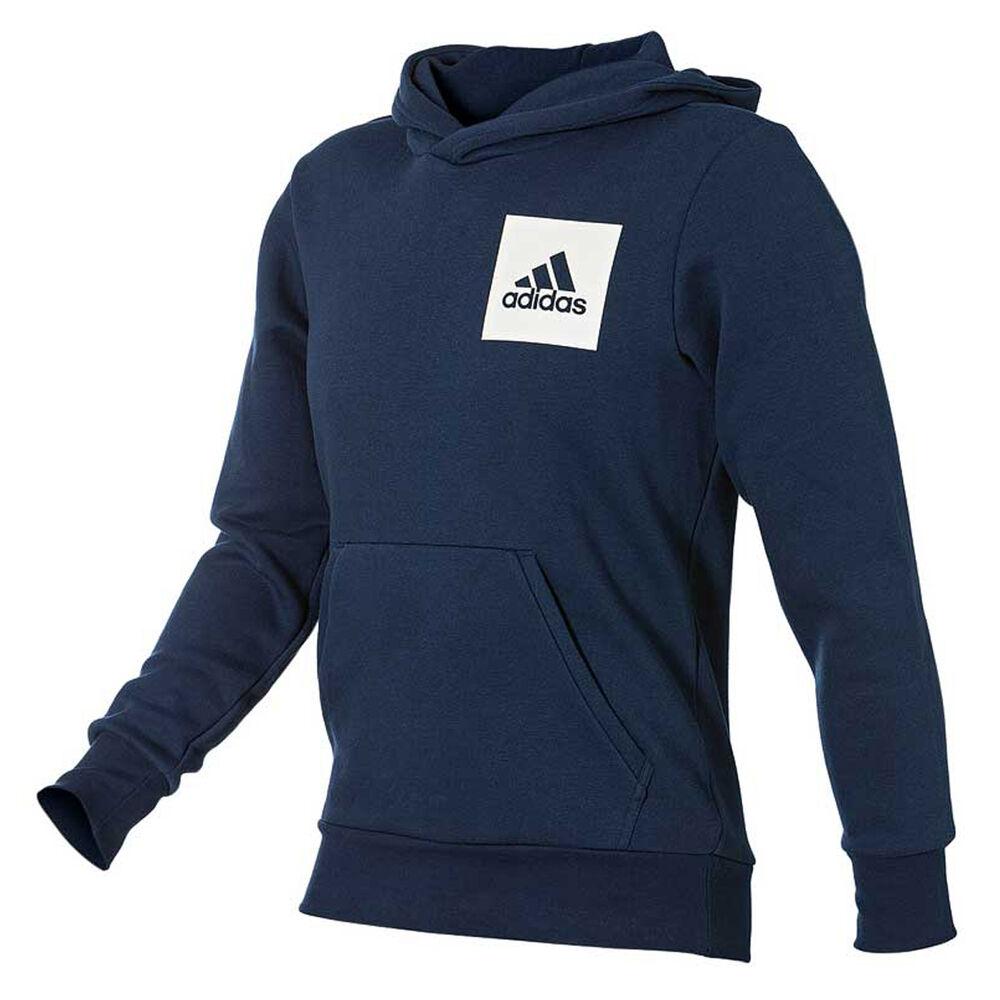 adidas Mens Essentials Logo Hoodie Navy S  d7eb5517534