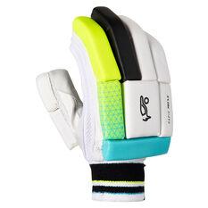Kookaburra Rapid Pro 5.0 Cricket Batting Gloves Green/Blue Right Hand, Green/Blue, rebel_hi-res