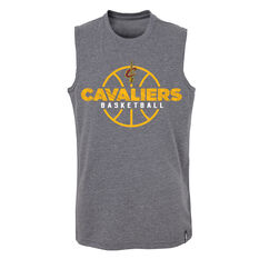 Outerstuff Youth Cleveland Cavaliers Destroyer Muscle Tank Grey / Yellow S, Grey / Yellow, rebel_hi-res
