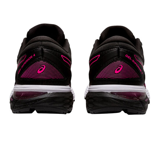Asics GEL Superion 4 Womens Running Shoes, Black/Pink, rebel_hi-res