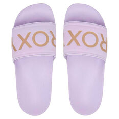 Roxy Slippy II Womens Slides Purple US 6, Purple, rebel_hi-res
