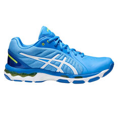 Asics Gel Netburner 19 D Womens Netball Shoes Blue / White US 6, Blue / White, rebel_hi-res