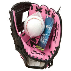 Reliance 10in Right Hand Throw Baseball Glove and Ball Set Black / Pink, , rebel_hi-res
