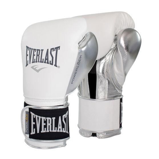 Everlast Pro Powerlock Training Boxing Gloves, White, rebel_hi-res