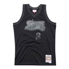 Philadelphia 76ers Allen Iverson 97/98 Mens Swingman Jersey Black S, Black, rebel_hi-res