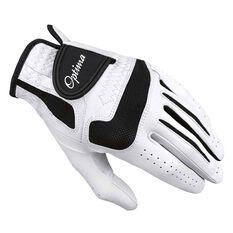 Optima Kangaroo Leather Mens Golf Glove White / Black Left Hand, White / Black, rebel_hi-res
