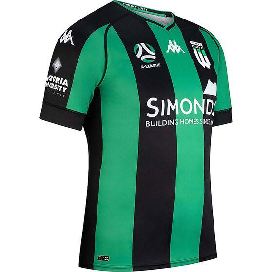 Western United FC 2020/21 Junior Home Jersey, Black / Green, rebel_hi-res