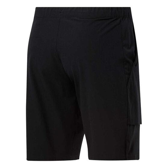 Reebok Mens Stretch Woven Shorts, Black, rebel_hi-res