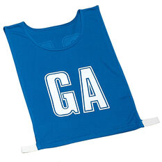 Gilbert Netball Bibs Royal Blue Junior, Royal Blue, rebel_hi-res