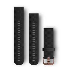 Garmin Quick Release 20mm Black / Rose Gold Watch Band, , rebel_hi-res