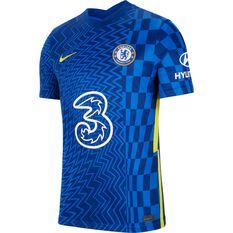 Chelsea FC 2021/22 Mens Replica Home Jersey Blue S, Blue, rebel_hi-res