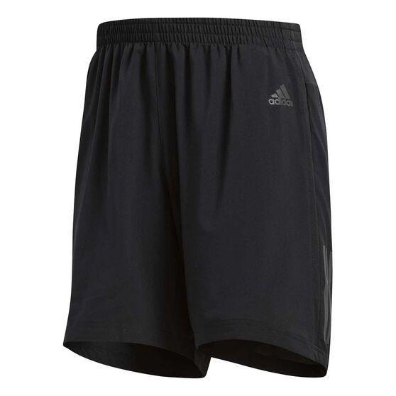 adidas Mens Response 5in Running Shorts Black XL, Black, rebel_hi-res