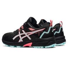 Asics GEL Venture 8 D Womens Trail Running Shoes, Black/Blue, rebel_hi-res