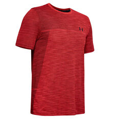 Under Armour Mens Vanish Seamless Training Tee Red S, Red, rebel_hi-res