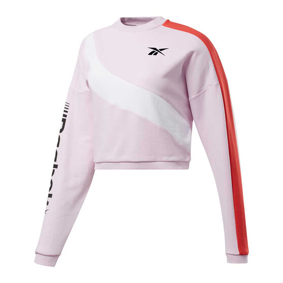 Reebok Womens Workout Ready Meet You There Sweatshirt, Pink, rebel_hi-res
