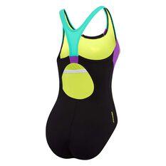 Speedo Womens Sport Image Swimsuit Black / Print 8, Black / Print, rebel_hi-res