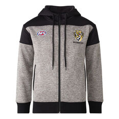 Richmond Tigers 2021 Mens Ultra Hoodie Grey S, Grey, rebel_hi-res