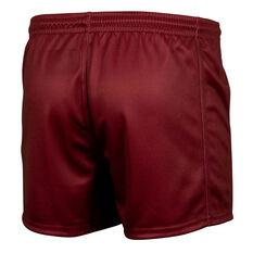QLD Maroons State of Origin 2021 Kids Training Shorts Maroon XS, Maroon, rebel_hi-res