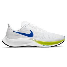 Nike Air Zoom Pegasus 37 Mens Running Shoes White/Blue US 7, White/Blue, rebel_hi-res