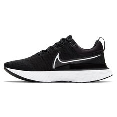 Nike React Infinity Run Flyknit 2 Womens Running Shoes Black/White US 6, Black/White, rebel_hi-res