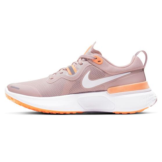 Nike React Miler Womens Running Shoes, Champagne/White, rebel_hi-res