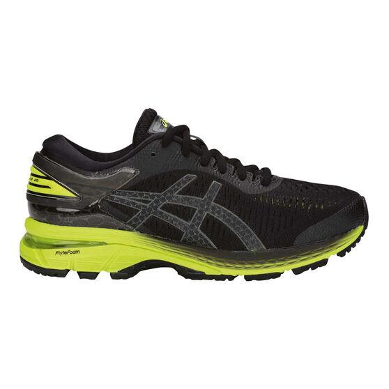 Asics GEL Kayano 25 Kids Running Shoes Black / Lime US 6, Black / Lime, rebel_hi-res