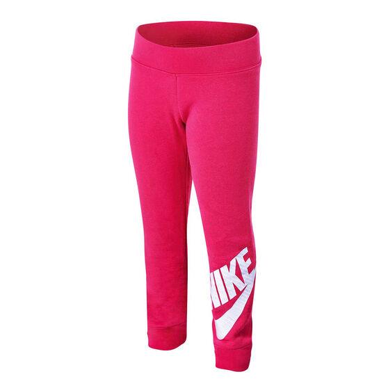 Nike Girls Sportswear Futura Fleece Jogger Pants, Pink, rebel_hi-res