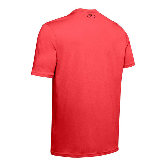 Under Armour Mens Sportstyle Logo Tee Red S, Red, rebel_hi-res