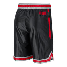 Chicago Bulls Mens Chrome Shorts Black XS, Black, rebel_hi-res