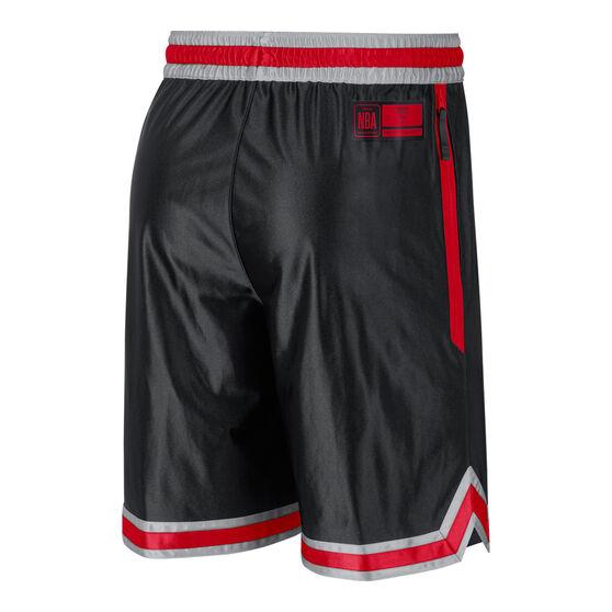 Chicago Bulls Mens Chrome Shorts, Black, rebel_hi-res