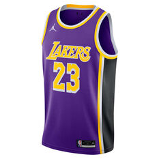 Jordan Los Angeles Lakers Lebron James 2020/21 Mens Statement Edition Swingman Jersey Purple S, Purple, rebel_hi-res