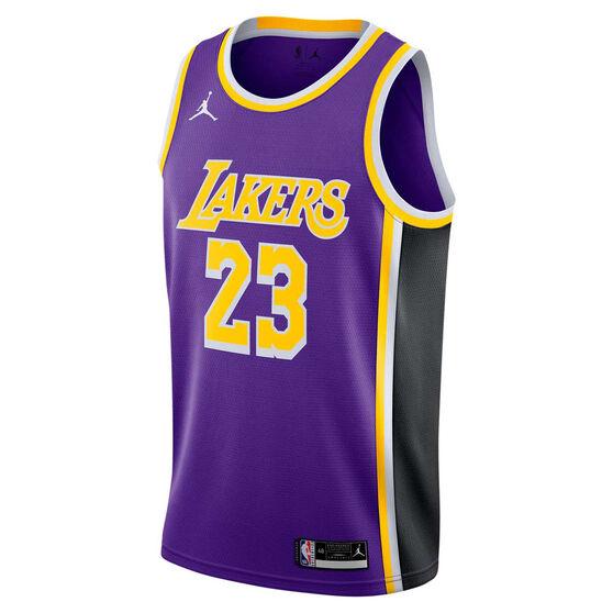 Jordan Los Angeles Lakers Lebron James 2020/21 Mens Statement Edition Swingman Jersey, , rebel_hi-res