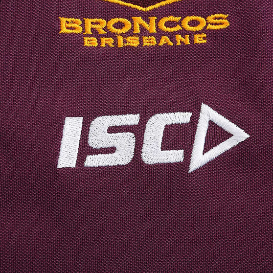 Brisbane Broncos 2020 Mens Performance Polo, Maroon, rebel_hi-res