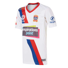 Newcastle Jets FC 2019/20 Kids Away Jersey White 6, White, rebel_hi-res