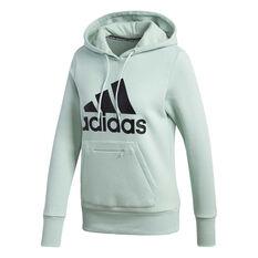 adidas Womens Badge Of Sport Hoodie Green XS, Green, rebel_hi-res
