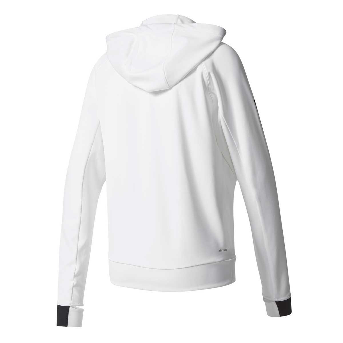 adidas Womens Performance Full Zip Hoodie White L
