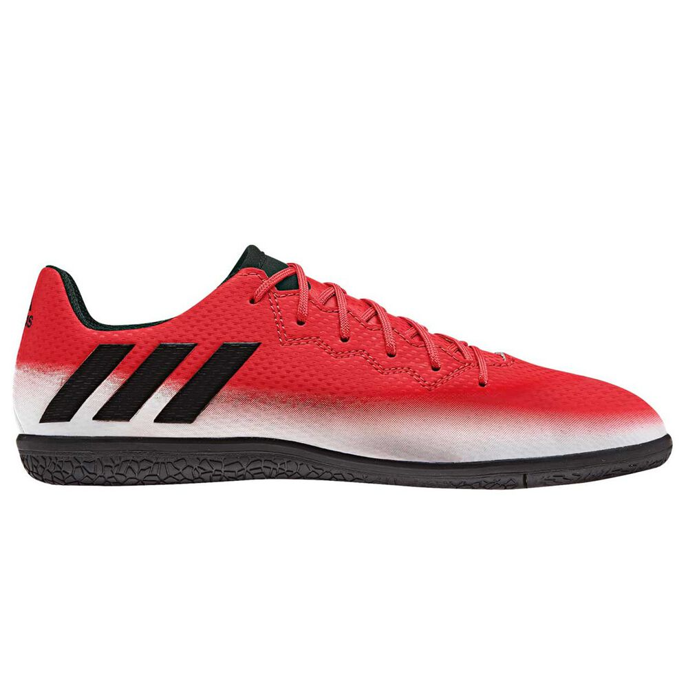 new arrival c3ece 252a5 adidas Messi 16.3 Junior Indoor Soccer Shoes Red   Black US 12, Red   Black