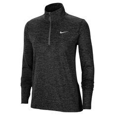 Nike Womens Element 1/2 Zip Running Top Black XS, Black, rebel_hi-res