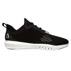 Reebok Flexagon Womens Training Shoes Black / White US 5, Black / White, rebel_hi-res