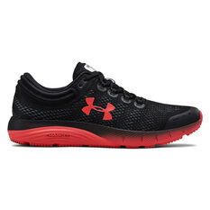 Under Armour Charged Bandit 5 Mens Running Shoes Black / Red US 7, Black / Red, rebel_hi-res