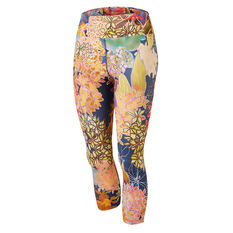Running Bare Womens Hear Me Roar High Waisted 7 / 8 Tights Print 8, Print, rebel_hi-res