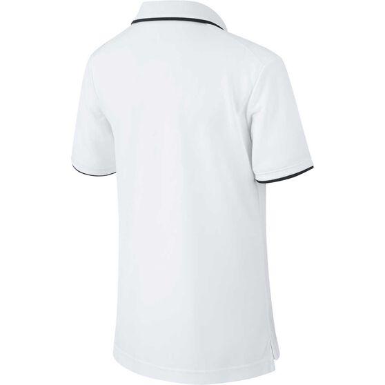 NikeCourt Boys Dri-FIT Team Polo, White / Black, rebel_hi-res