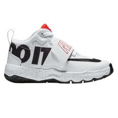 Nike Team Hustle D 8 Just Do It Kids Basketball Shoes White / Black US 11, White / Black, rebel_hi-res