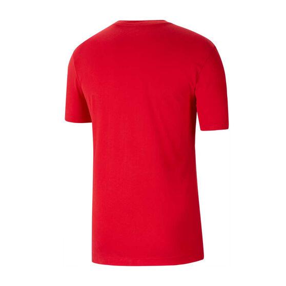 Chicago Bulls Mens Dry Logo Tee, Red, rebel_hi-res