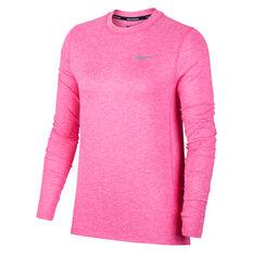 Nike Womens Running Crew Top Prink XS, , rebel_hi-res