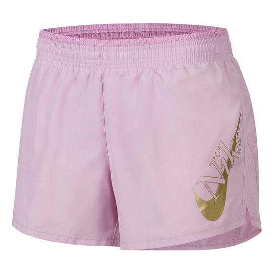 Nike Womens Icon Clash 10K Running Shorts, Pink, rebel_hi-res