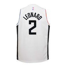 Nike Los Angeles Clippers Kawhi Leonard 2020 Youth City Edition Jersey White S, White, rebel_hi-res