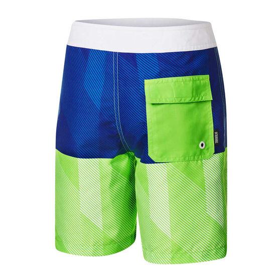 Tahwalhi Boys Slip Stream Board Shorts, Blue, rebel_hi-res