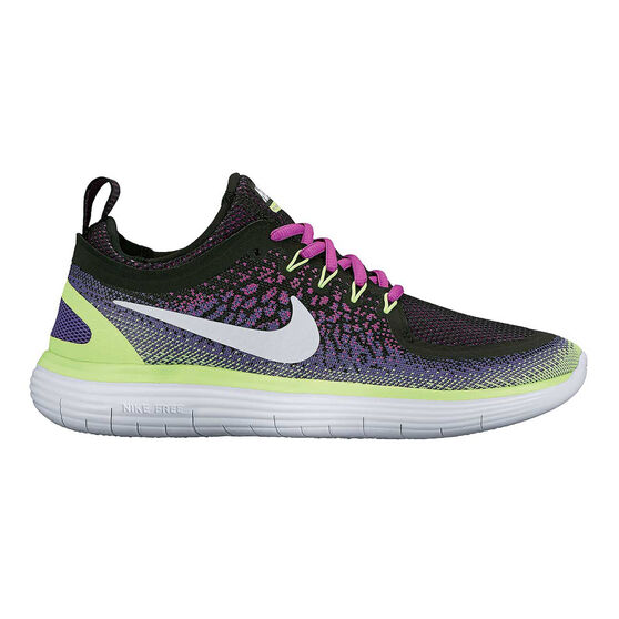 93adddfcffc Nike Free Run Distance 2 Womens Running Shoes Black   Purple US 6 ...